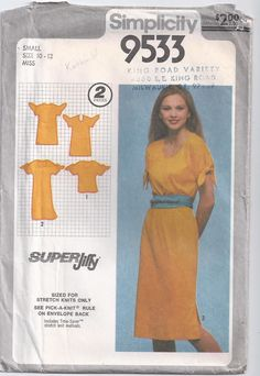 Jiffy Pullover Dress Or Top For Stretch Knits Size 10 by Rosie247, $4.00