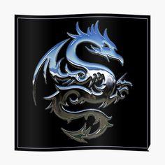 Silver Dragon, Canvas Prints, Art Prints, Photographic Prints, Art Boards, Black Backgrounds, Metallic, My Arts, Wall Art