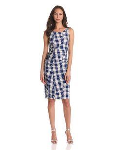 KAMALIKULTURE Women%27s Shirred Waist Sleeveless Dress