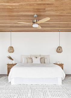 Coastal Bedrooms, Coastal Master Bedroom, Coastal Homes, Master Bedrooms, Master Suite, Pendant Lighting Bedroom, Pendant Lights, Natural Bedroom, Bedroom Styles