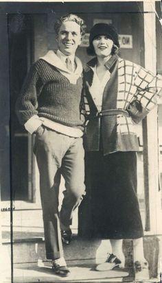 Charlie Chaplin and Pola Negri.