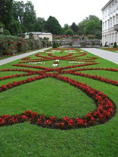 happy valentiner's day from mirabel gardens, salzburg, austria, the location of some sound of music scenes.