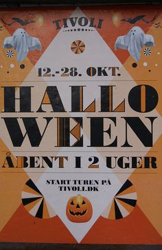 Tivoli Halloween Poster - by & Co. Halloween Dance, Halloween Poster, Halloween Costumes, Tivoli Gardens, Scandinavian Countries, Halloween Celebration, Fall Photos, Trick Or Treat, Copenhagen