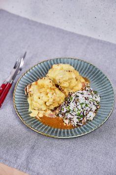 Fördős család-féle loaded dubarry karaj   Street Kitchen Risotto, Curry, Pork, Meat, Ethnic Recipes, Street, Kitchen, Classic, Kale Stir Fry