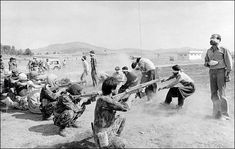 A government firing squad executes nine Kurdish rebels and two former police officers of the deposed Shah of Iran after summary trials, Aug. 27, 1979. The next day, another 21 Kurdish rebels and military deserters were executed.