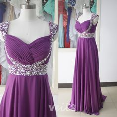 Purple cap sleeve sequined chiffon beaded evening dress bridesmaid dress custom peach wedding party dress sexy cocktail dresses