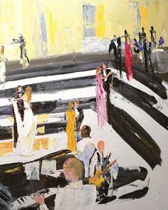 24 Best Ideas to Steal From Our Real Weddings of 2014. Already booked your photographer and videographer? Why not consider hiring a painter to capture your big day? Live-event artist Greg Kalamar used acrylic paints on canvas to illustrate JoJo and Eric's reception.