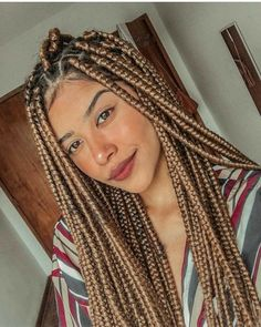 Purple Box Braids, Brown Box Braids, Jumbo Box Braids, Braids For Short Hair, Colored Box Braids, Medium Box Braids, Blonde Box Braids, Small Braids, Long Braids