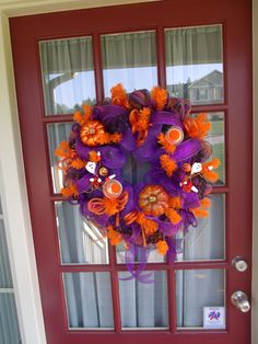 Brightly Colored Halloween Deco Mesh Wreath