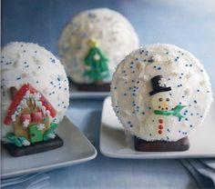 Snowglobe Christmas Cupcakes