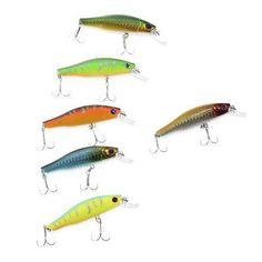 HENGJIA 6pcs 8.5CM Fishing Plastic Lure Bait