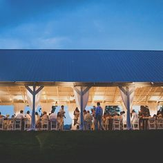 Open pavilion reception space // Front Porch Farms //  Teale Photography // http://www.theknot.com/weddings/album/a-vintage-country-wedding-in-charlotte-tn-148644