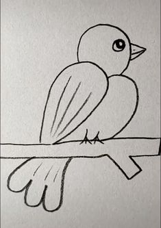 Bird Drawing Easy Bird Drawing Easy - More Ideas at our Easy Pencil Drawings, Art Drawings Sketches Simple, Easy Cartoon Drawings, Easy Drawings For Kids, Bird Drawings, Cute Drawings, People Drawings, Drawings With Meaning, Easter Drawings