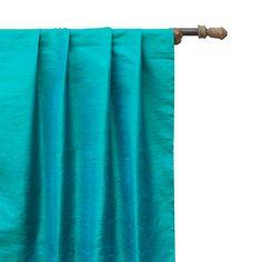 Blue Fabric, Silk Fabric, Panel Curtains, Curtain Panels, Window Sizes, Custom Curtains, Box Pleats, Yarn Colors, Rod Pocket