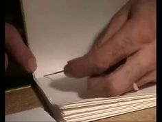 Bookbinding hand sewn lesson 1 step 3