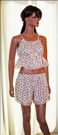 Vintage Rose Nightie   Women's All Cotton Pajamas by OliviaAndKate, $79.00