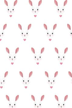Seamless Pattern Background With Bunnies