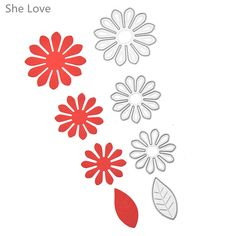 Wholesale Product Snapshot Product name is 4pcs Scrapbooking Leaf Flower Metal Cutting Dies Stencil DIY Decorative Album Embossing Paper Crad