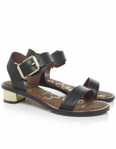 Amazon.com: Sam Edelman Trina Leather Sandals Black: Shoes