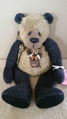 "Gilmur Rudley Artist Teddy Bear 14"" Sad Sack by Jackie Melerski Saraf"