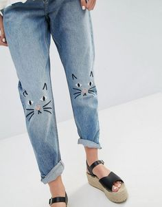 Monki | Monki Kimomo Love Jeans at ASOS Nail Design, Nail Art, Nail Salon, Irvine, Newport Beach