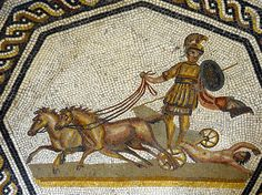 Vatican Museums - ancient Roman mosaic - charioteer dragging naked captive | by edk7