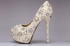 8 Beautiful Crystal Footwear For Brides
