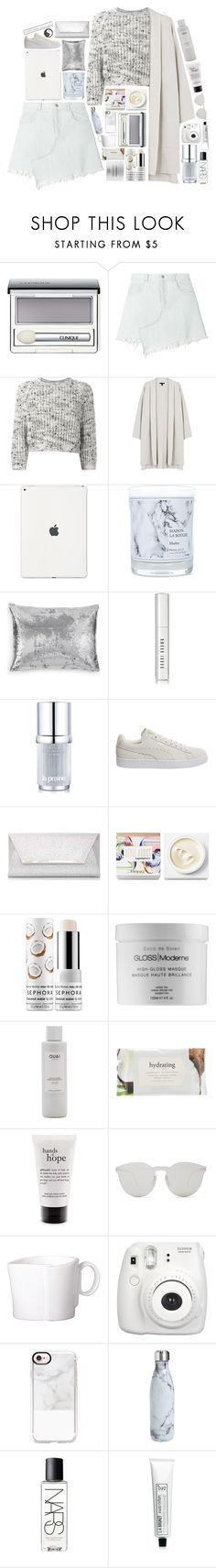 """""""Let the leaves fall off in the summer"""" by in-another-planet ❤ liked on Polyvore featuring Clinique, Sandy Liang, Brunello Cucinelli, Eileen Fisher, Maison La Bougie, Calvin Klein, Bobbi Brown Cosmetics, La Prairie, Puma and Dorothy Perkins"""