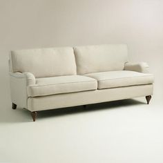 One of my favorite discoveries at WorldMarket.com: Sand Linen Maryn Sofa