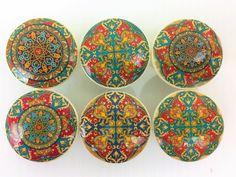 Set of 6 Mumbai Medallion Cabinet Knobs