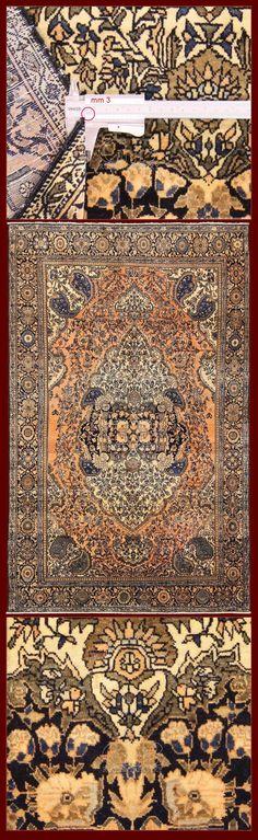 Persian Antique Farahan-Sarouk rug, size (200 cm x 125 cm), Iran