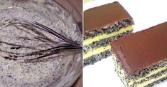 Iata ce poti sa faci din o ciocolata neagra, niste mac si fulgi de cocos Tiramisu, Food And Drink, Sweets, Baking, Cake, Ethnic Recipes, Basket, Pies, Romania