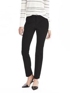 Banana Republic Womens Ryan Slim Straight-Fit Stretch Pant Black Corduroy  Pants 702e8d746
