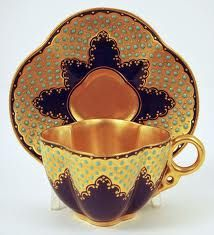 Coalport Teacup, cobalt color