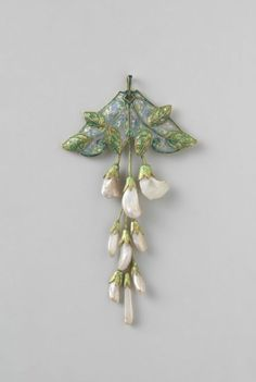 "design-is-fine:  ""Georges Fouquet, pendant, 1908-1910. Gold, enamel, pearls. France. Via Rijksmuseum  """