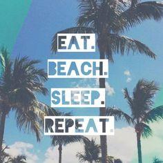O melhor jeito para #descomplicar: passar as férias todas na praia <3