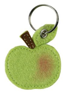 This sweet little apple keyring would make a perfect present for a teacher