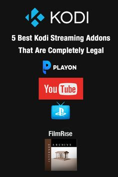 Kodi streaming addons that are completly legal #kodi #streaming #kodiaddon #vpn #playon #youtube #psvue #filmrise #internetarchive