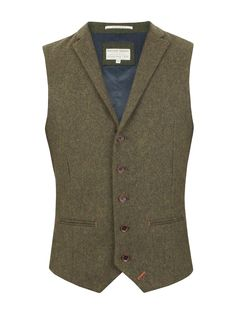 Vintage style mens tweed ride vest. Mens Racing Green Empire Heavy Twill Waistcoat Green £44.00 AT vintagedancer.com