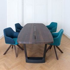This sturdy, no-nonsense table is made from local, solid wood and concrete; sustainable materials for a table that will be enjoyed for generations. Oval Table, Dining Table, Contemporary Furniture, Contemporary Design, Mid-century Modern, Solid Wood, Mid Century, Interior Design, Base