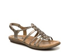 Earth Bluff Gladiator Sandal in Gold | DSW • gold gladiator sandals. gold flat sandals.