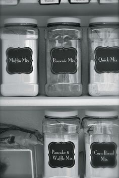 Make your own dry mixes (brownie, muffin, pancake, etc) plus she includes the template for those cute labels! :)