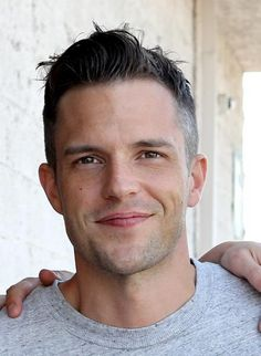 Brandon Flowers  - 2018 Dark brown hair & Bohemian hair style.