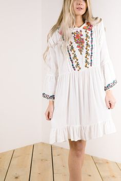 The Brentwood Embroidered Tunic Dress in White Jumpsuit Dress, Dress Up, Piper And Scoot, Embroidered Tunic, Passion For Fashion, Cover, White Dress, Tunic Tops, Stylish