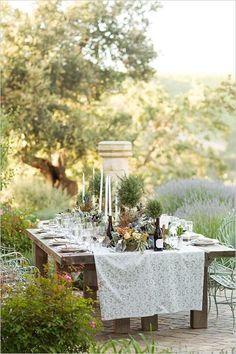 tolle Idee für eine Hochzeit im Freien