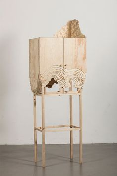 Furniture Erosion: Nate Cabinet by Lisa Berkert Wallard in home furnishings Category Funky Furniture, Cabinet Furniture, Ikea Furniture, Plywood Furniture, Painted Furniture, Furniture Design, Luxury Furniture, Office Furniture, Building Furniture