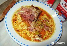Tejszínes palócgulyás füstölt csülökkel Hungarian Recipes, Hungarian Food, Hummus, Dishes, Meat, Chicken, Ethnic Recipes, Hungarian Cuisine, Tablewares