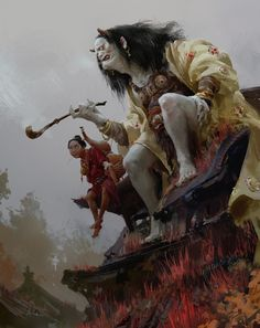 Meet the art of Xiaodi Jin, a Chinese artist, currently Concept Art Director at Tacit Sign Studio Dark Fantasy Art, Fantasy Kunst, Dark Art, Arte Horror, Horror Art, Horror Movies, Art And Illustration, Art Illustrations, Arte Obscura