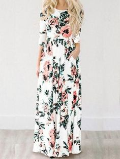 White maxi dress-Floral Maxi Dress-Floral Print Dress-Boho Summer Outfits- Google Search TEEN DRESSES
