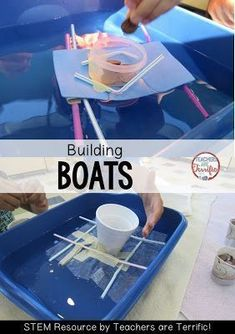 STEM boat challenge- al foil, Popsicle sticks, pipe ...